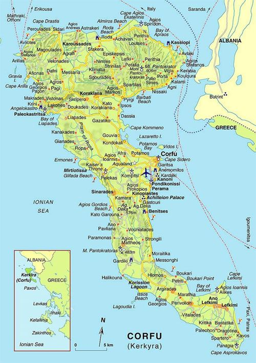 Corfu Maps Whats On Corfu